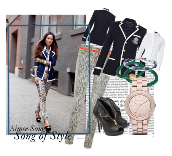Aimee Song from Song of Style Polyvore Set