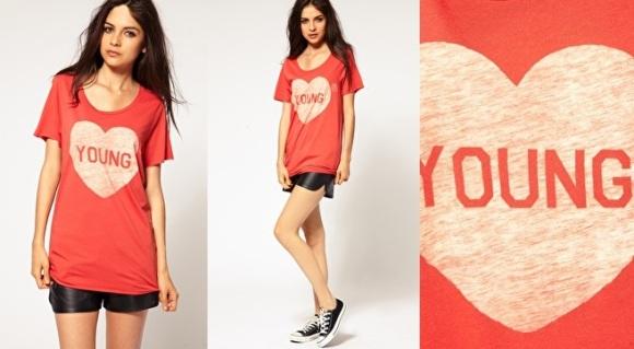 ASOS Zoe Karssen 'young' t-shirt