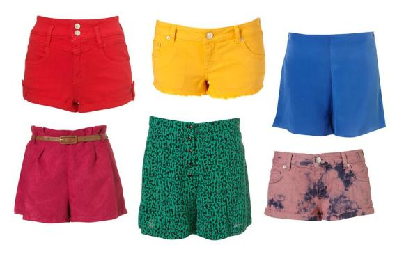 Topshop Coloured Shorts