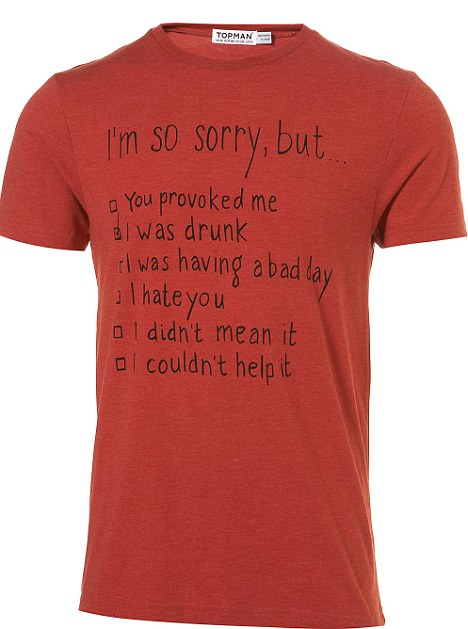 Topman I'm Sorry T-Shirt