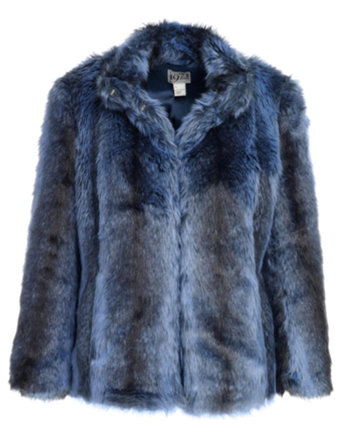 Reiss Women's Jillie Navy Faux Fur Jacket