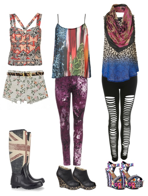 Mixed Prints Outfits
